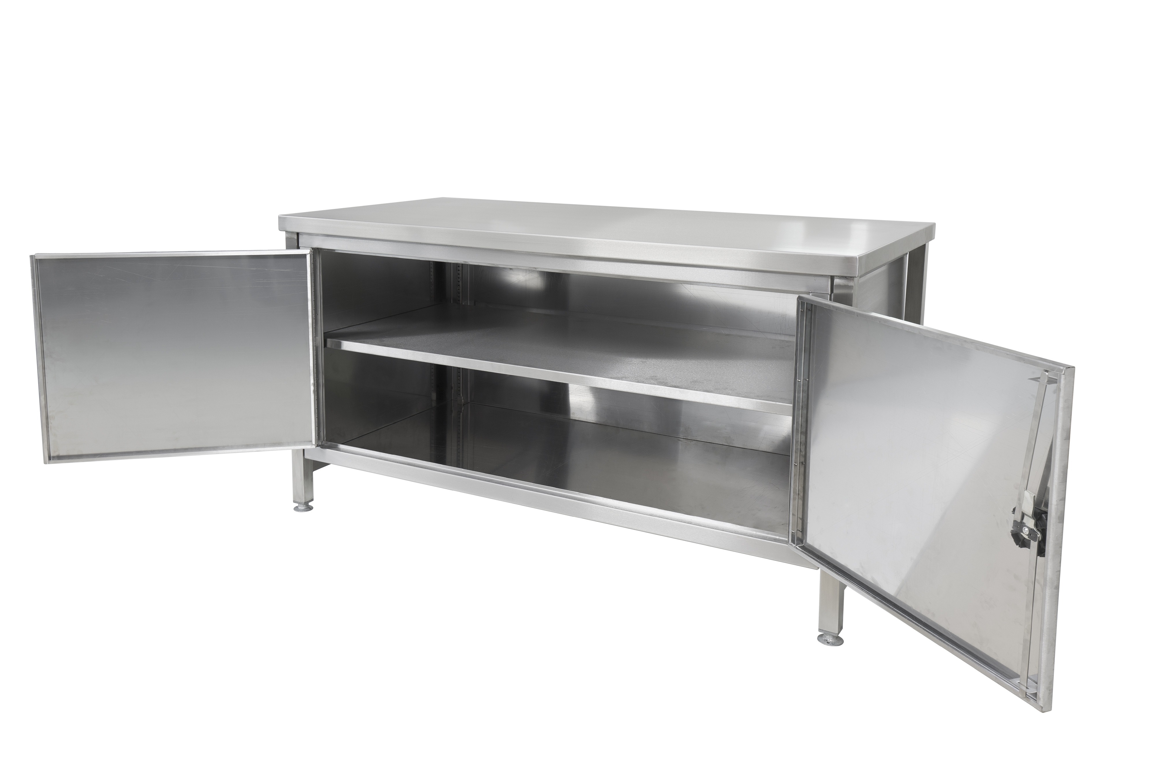 SSCUP1575_-_1500mm_x_750mm_SS_Workbench_with_full_open_cupboard