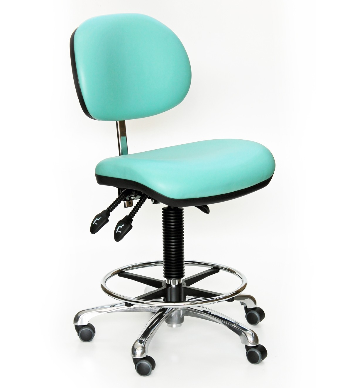 C40 - High chair with feet (steel foot ring) 600-870mm height adjustment