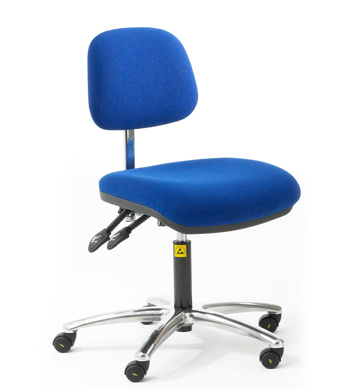 C80 - ESD Ergonomic Chair with feet 450-590mm height adjustment