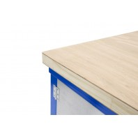 Wood top mobile workbenches
