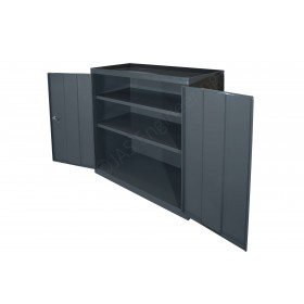 BMH - Unit with two shelves & lockable double doors - 915L x 457d x  915h mm