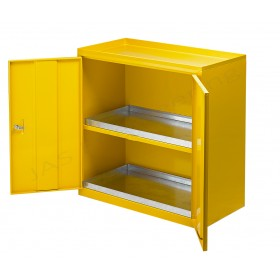 BMHLS - Unit with one shelf, sumps, stickers & lockable doors -  x 915L x 457d x 915h mm