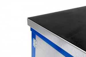 Black Rubber on Steel heavy duty workbench