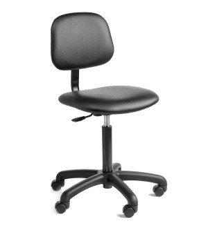 C10 - Industrial Upholstered low chair 430-570mm height adjustment