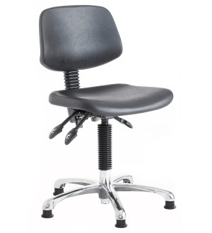 C120 - Contoured polyurethane seat and back (Steel foot ring) 550-800mm height adjustment
