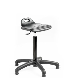 C180 - Industrial Cushioned Polyurethane posture stool with feet 680-800mm height adjustment