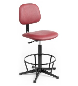 C20 - Industrial Upholstered high chair  550-800mm height adjustment Feet