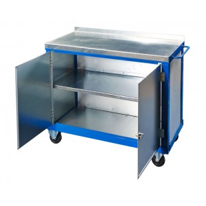 Steel top tool trolley