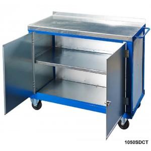 Steel top tool trolley
