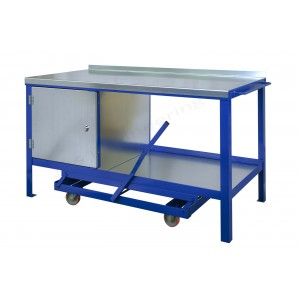 Steel top mobile workbenches