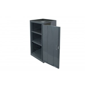 Cabinet with two fixed shelves and a lockable door