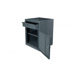 Cabinet with drawer, one shelf and lockable door