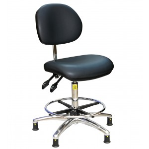 C110 - ESD Fully Ergonomic Chair (steel foot ring) 500-690mm height adjustment.